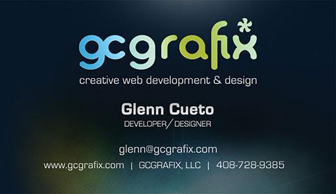 gc grafix business card